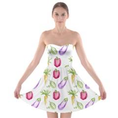 Vegetable Pattern Carrot Strapless Bra Top Dress