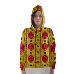 Light Candles And The Fern Will Still Grow In The Summer Hooded Wind Breaker (women)