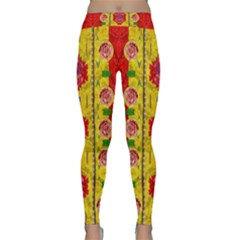 Light Candles And The Fern Will Still Grow In The Summer Classic Yoga Leggings