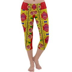 Light Candles And The Fern Will Still Grow In The Summer Capri Yoga Leggings