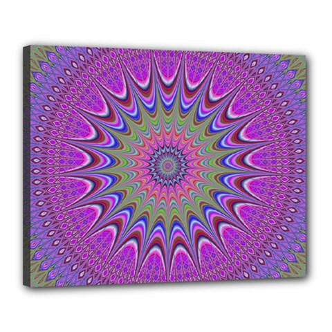 Art Mandala Design Ornament Flower Canvas 20  X 16