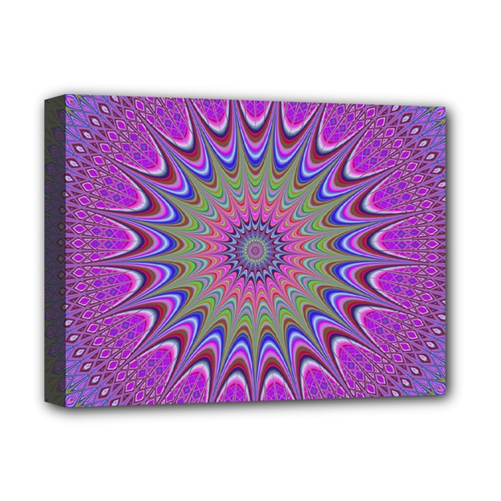 Art Mandala Design Ornament Flower Deluxe Canvas 16  x 12