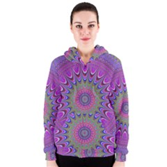 Art Mandala Design Ornament Flower Women s Zipper Hoodie
