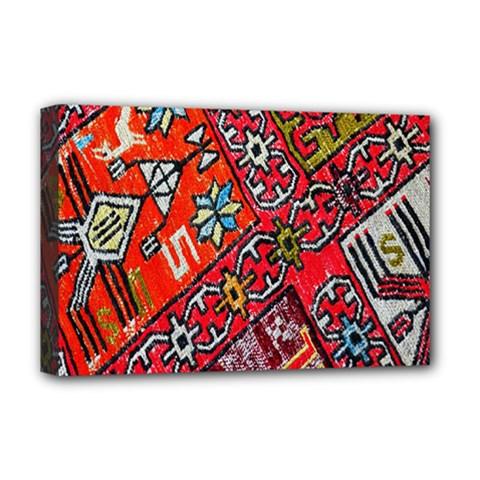 Carpet Orient Pattern Deluxe Canvas 18  X 12