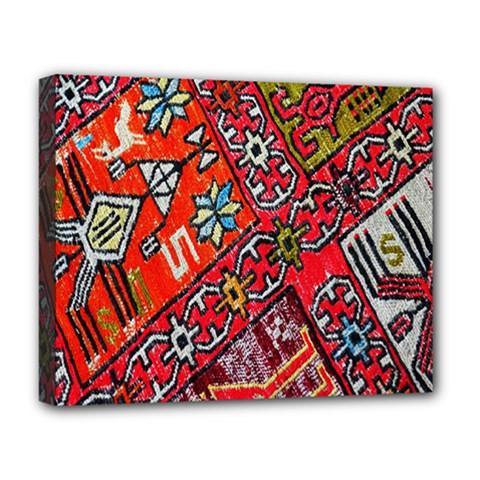 Carpet Orient Pattern Deluxe Canvas 20  X 16