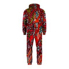 Carpet Orient Pattern Hooded Jumpsuit (kids)