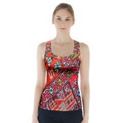 Carpet Orient Pattern Racer Back Sports Top