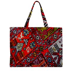 Carpet Orient Pattern Zipper Medium Tote Bag