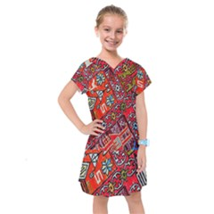 Carpet Orient Pattern Kids  Drop Waist Dress
