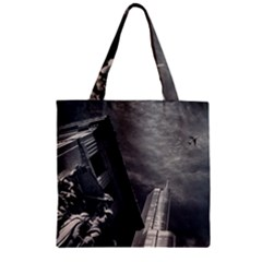 Chicago Skyline Tall Buildings Zipper Grocery Tote Bag