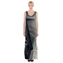 Chicago Skyline Tall Buildings Maxi Thigh Split Dress