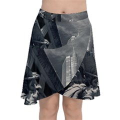Chicago Skyline Tall Buildings Chiffon Wrap