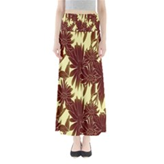 Floral Pattern Background Full Length Maxi Skirt