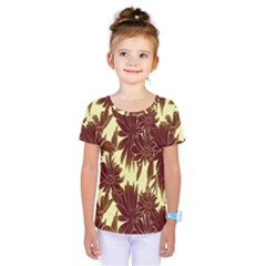 Floral Pattern Background Kids  One Piece Tee