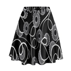 Floral Pattern Background High Waist Skirt