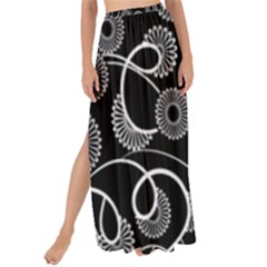 Floral Pattern Background Maxi Chiffon Tie Up Sarong