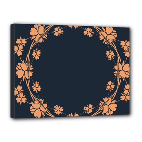 Floral Vintage Royal Frame Pattern Canvas 16  X 12