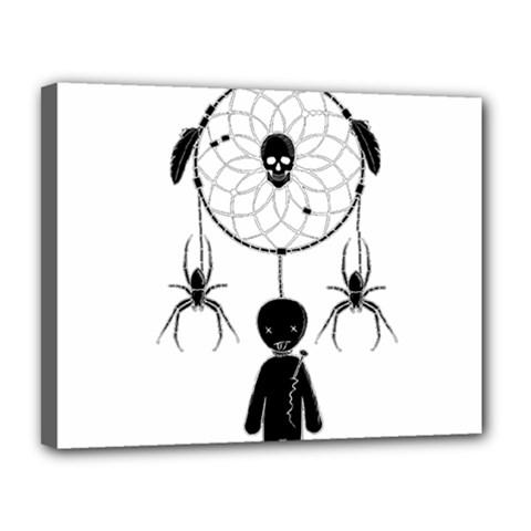 Voodoo Dream Catcher  Canvas 14  X 11
