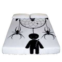 Voodoo Dream Catcher  Fitted Sheet (queen Size)