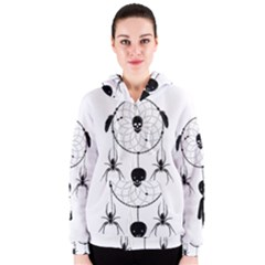 Voodoo Dream Catcher  Women s Zipper Hoodie