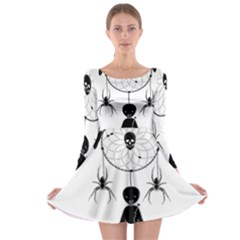 Voodoo Dream Catcher  Long Sleeve Skater Dress