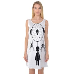 Voodoo Dream Catcher  Sleeveless Satin Nightdress