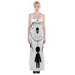 Voodoo Dream Catcher  Maxi Thigh Split Dress