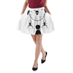 Voodoo Dream Catcher  A Line Pocket Skirt