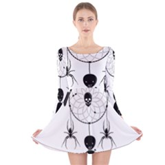 Voodoo Dream Catcher  Long Sleeve Velvet Skater Dress