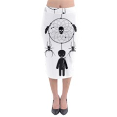 Voodoo Dream Catcher  Midi Pencil Skirt
