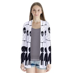 Voodoo Dream Catcher  Drape Collar Cardigan