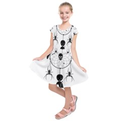 Voodoo Dream Catcher  Kids  Short Sleeve Dress