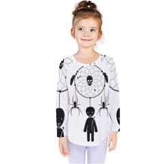 Voodoo Dream Catcher  Kids  Long Sleeve Tee