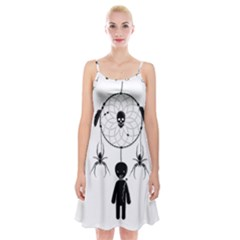 Voodoo Dream Catcher  Spaghetti Strap Velvet Dress
