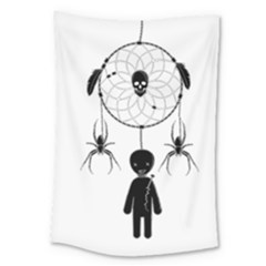 Voodoo Dream Catcher  Large Tapestry