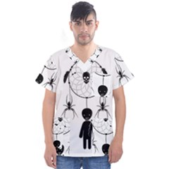 Voodoo Dream Catcher  Men s V Neck Scrub Top