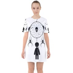 Voodoo Dream Catcher  Sixties Short Sleeve Mini Dress