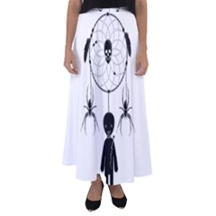 Voodoo Dream Catcher  Flared Maxi Skirt