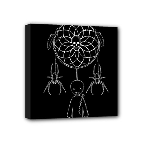 Voodoo Dream Catcher  Mini Canvas 4  X 4