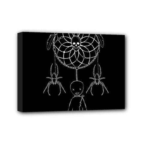 Voodoo Dream Catcher  Mini Canvas 7  X 5