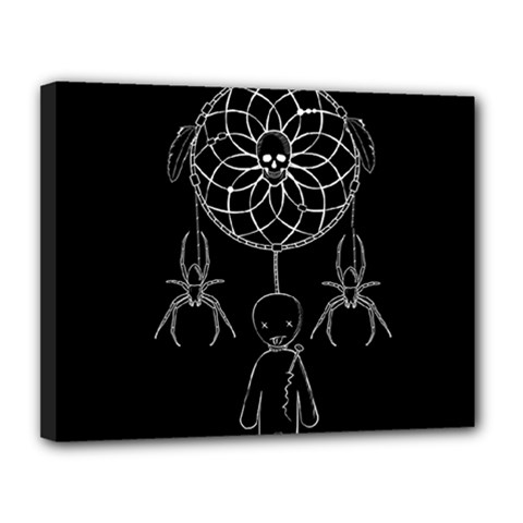 Voodoo Dream Catcher  Canvas 14  X 11