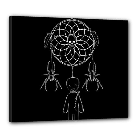Voodoo Dream Catcher  Canvas 24  X 20
