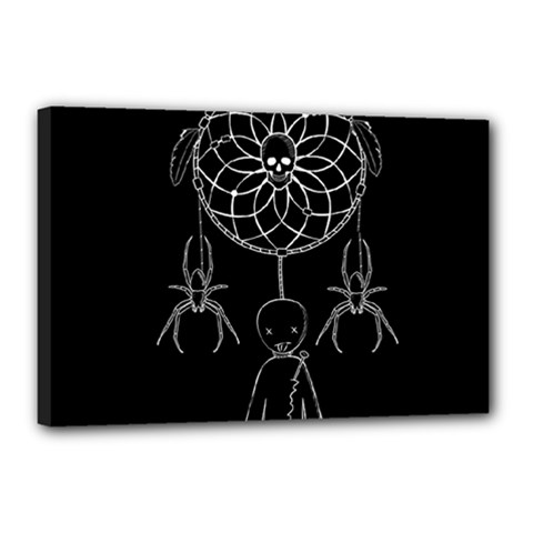 Voodoo Dream Catcher  Canvas 18  X 12