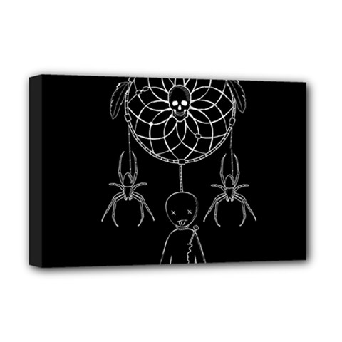 Voodoo Dream Catcher  Deluxe Canvas 18  X 12