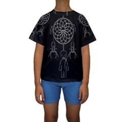 Voodoo Dream Catcher  Kids  Short Sleeve Swimwear