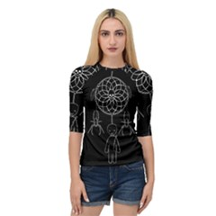 Voodoo Dream Catcher  Quarter Sleeve Raglan Tee