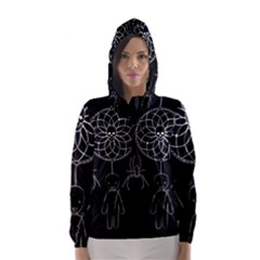 Voodoo Dream Catcher  Hooded Wind Breaker (women)