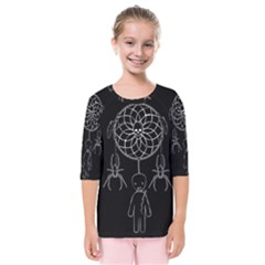 Voodoo Dream Catcher  Kids  Quarter Sleeve Raglan Tee