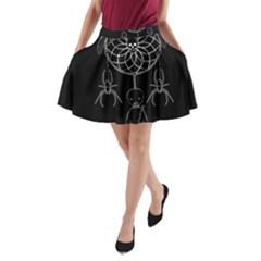 Voodoo Dream Catcher  A Line Pocket Skirt