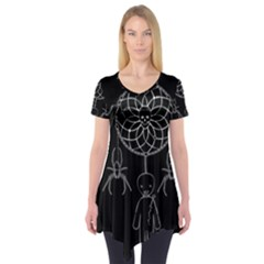 Voodoo Dream Catcher  Short Sleeve Tunic